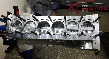 RB26 Billet Block fitted with Custom Spool Pistons